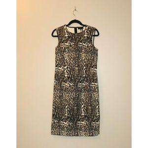 NWT Donna Karan Animal Print Sheath Dress